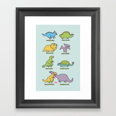 know your dinosaurs Framed Art Print