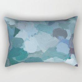 Turquoise Blue Green Mint Purple Abstract Geode Rock Wall Art Brush Painting Print Rectangular Pillow