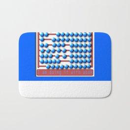 Abacus calculator Bath Mat