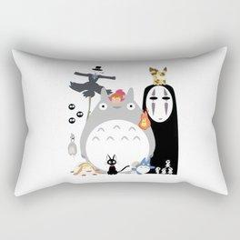 Studio Ghibli Gang Rectangular Pillow
