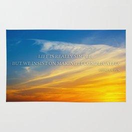 Sunset Confucius Quote Rug