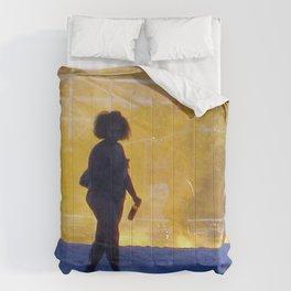 """Coney Island at Dusk"" Comforters"