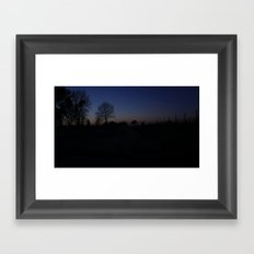 night eyes Framed Art Print