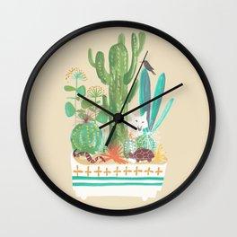 Desert planter Wall Clock