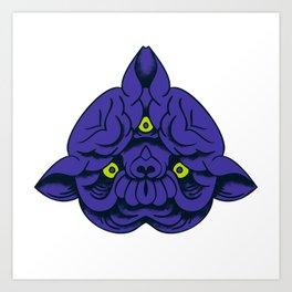 Mutant Purple Panther Art Print
