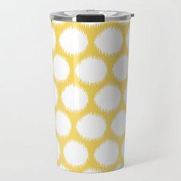 Pale Yellow Asian Moods Ikat Dots Travel Mug