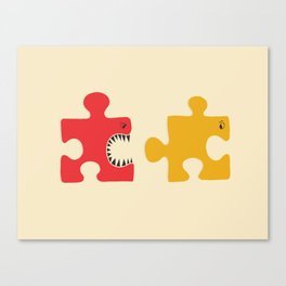 Puzzle Monster Canvas Print