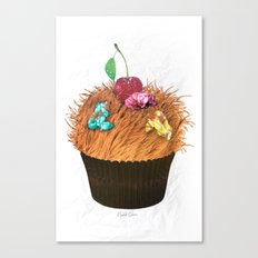 Hairy Cupcake Canvas Print