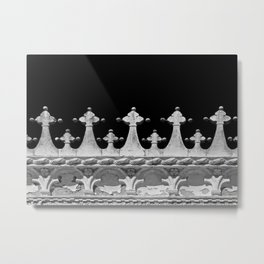 Abstract Venetian Architectural Details in Black and White Metal Print