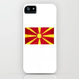 Macedonia Flag design | Macedonian design iPhone Case