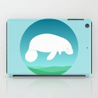 manatee iPad Cases featuring Manatee by tuditees