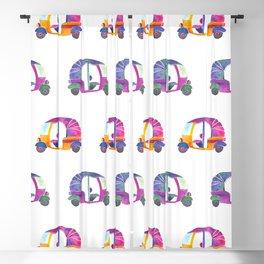 Funky rickshaws pattern Blackout Curtain
