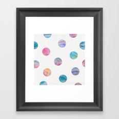 Marble Polka Dots Framed Art Print