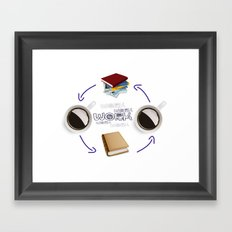 Coffee And Books - Recipe For Success Guaranteed  Framed Art Print