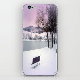 Winter seat iPhone Skin