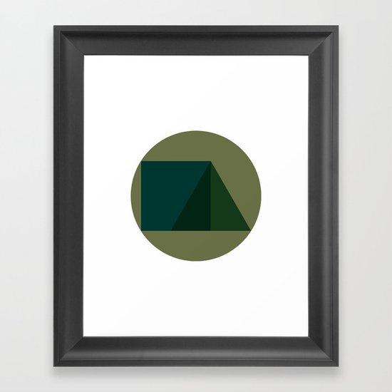 #249 Triad – Geometry Daily Framed Art Print