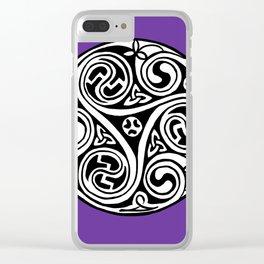 Celtic Art - Triskele - on Purple Clear iPhone Case
