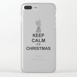 Keep Calm it's Christmas Clear iPhone Case
