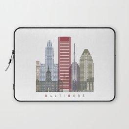 Baltimore V2 skyline poster Laptop Sleeve