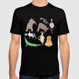 safari animal yoga T-shirt