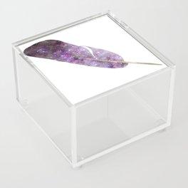 Cosmic Feather Acrylic Box