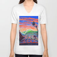 psychadelic V-neck T-shirts featuring  Surf Art Psychadelic  by Surf Art Gabriel Picillo
