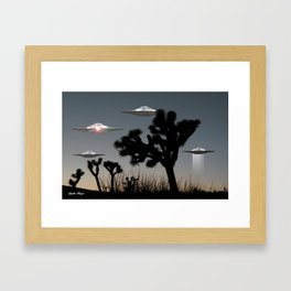 Joshua Tree Space Invasion by C.Reyes Framed Art Print