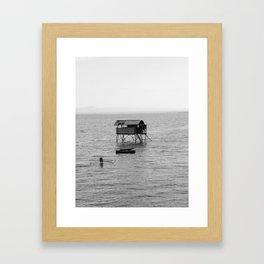Sea Hut Framed Art Print