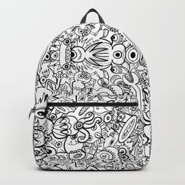 In a world of Doodle Art, monsters and robots spare no effort to survive at any cost Backpack