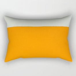 Orange and White Colors Painting Rectangular Pillow