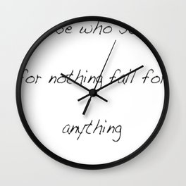 Alexander Hamilton Quote Wall Clock
