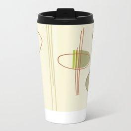 Pattern Print Metal Travel Mug