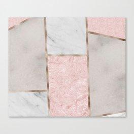 Pink stones - rose gold adorns Canvas Print