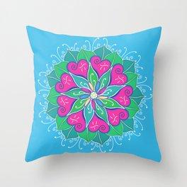 Love Bloom Throw Pillow