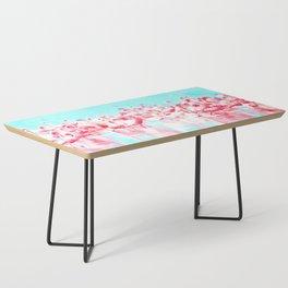 Flamingos tropical illustration Coffee Table