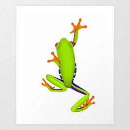 Tree Frog Climbing Art Print