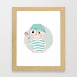 The Sailor, illustrated cold portrait Framed Art Print
