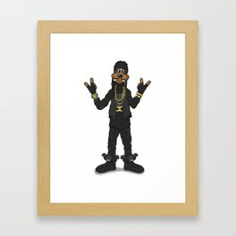 Goofy Chainz Framed Art Print