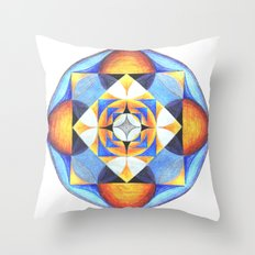 Solar Kaleidoscope (ANALOG zine) Throw Pillow