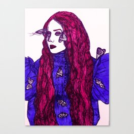 Edith Cushing (Haunted Beauty Series) Canvas Print
