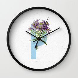 Letter 'P' Monogram Wall Clock