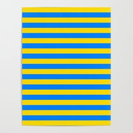 Palau Parma flag stripes Poster