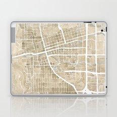 Boulder Colorado Watercolor Map Laptop & iPad Skin