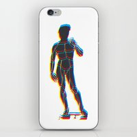 david fleck iPhone & iPod Skins featuring David  by sandro laliashvili