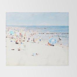 Blue Beach Brooklyn Throw Blanket
