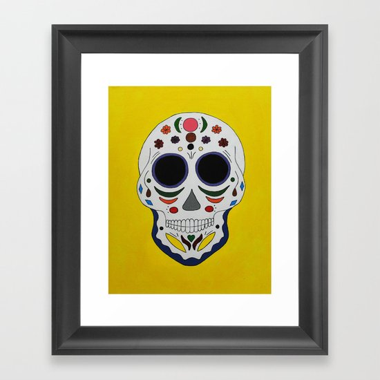 Sugar Skull #2 Framed Art Print