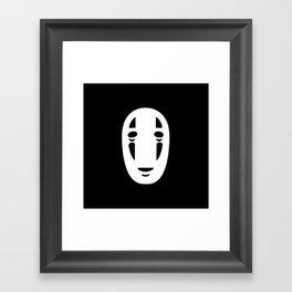 Minimal Cinema - Kaonashi/Spirited Away Framed Art Print