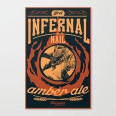 Infernal Nail Amber Ale | FFXIV Canvas Print