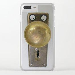 The Door to Wonderland Clear iPhone Case