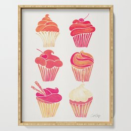 Cupcake Collection – Pink & Cream Palette Serving Tray